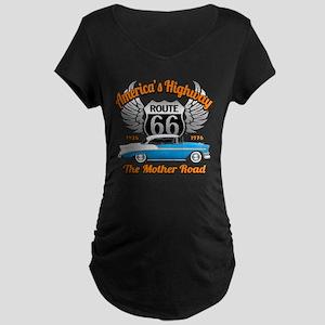America's Highway 66 Maternity Dark T-Shirt