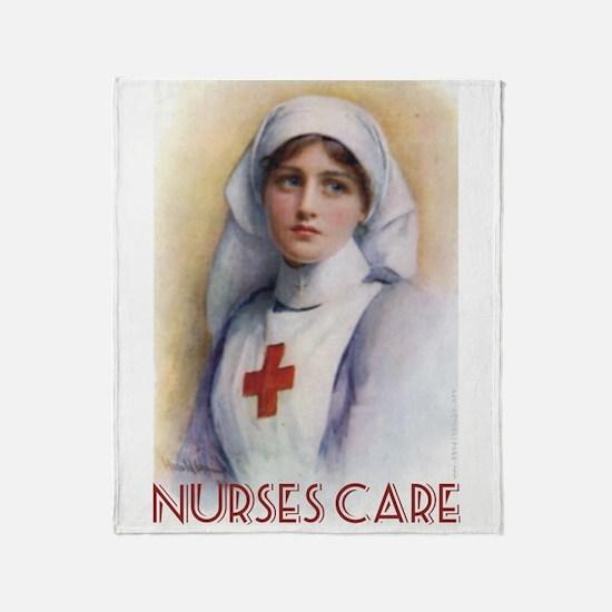 Nurses Care Throw Blanket