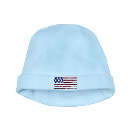 American Flag baby hat