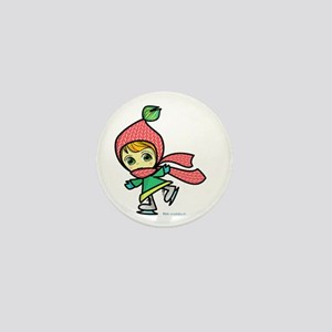 Ice Skater Girl Mini Button