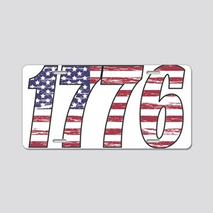 1776 Flag Aluminum License Plate