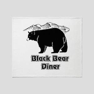 Black Bear Logo Throw Blanket