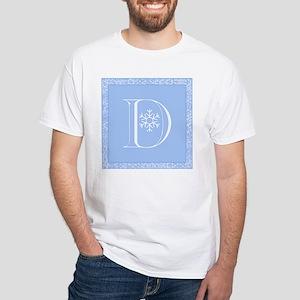 Snowflake Initial D White T-Shirt