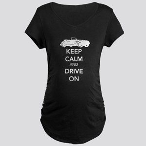 Keep Calm and Drive On Maternity T-Shirt