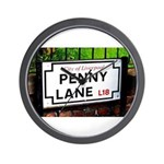 penny lane, liverpool sign Wall Clock