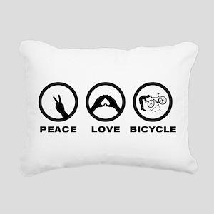 Bicycle Mechanic Rectangular Canvas Pillow