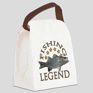 Fishing legend Striped Bass Canvas Lunch Bag