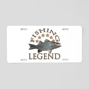 Fishing legend Striped Bass Aluminum License Plate