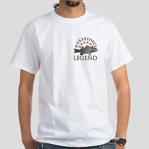 Fishing legend Striped Bass White T-Shirt