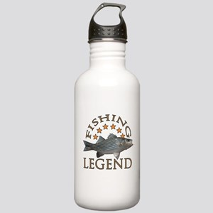 Fishing legend Striped Bass Stainless Water Bottle