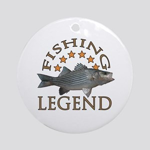 Fishing legend Striped Bass Ornament (Round)