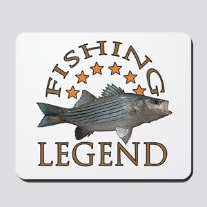 Fishing legend Striped Bass Mousepad