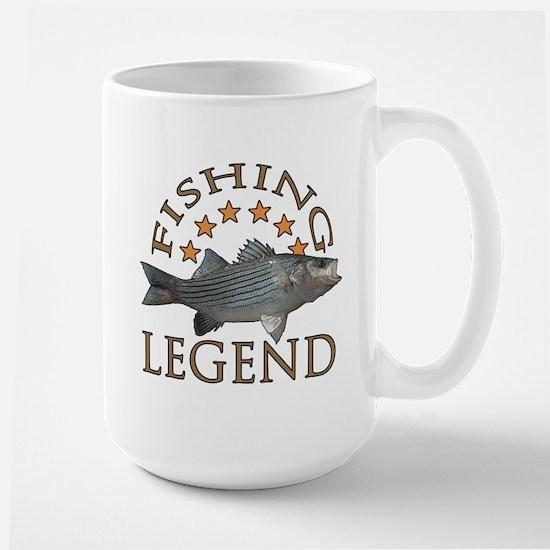 Fishing legend Striped Bass Large Mug