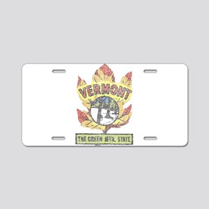 Vintage Vermont Maple Leaf Aluminum License Plate