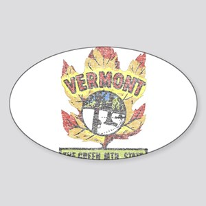 Vintage Vermont Maple Leaf Sticker