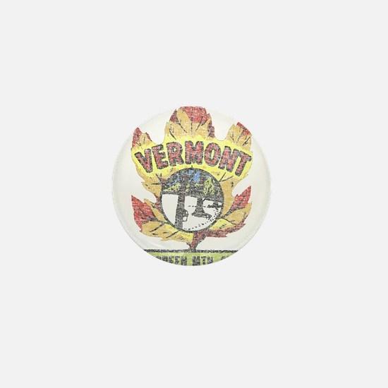 Vintage Vermont Maple Leaf Mini Button