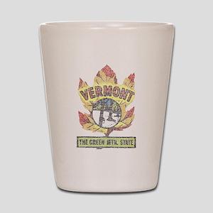 Vintage Vermont Maple Leaf Shot Glass