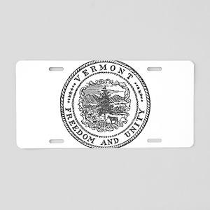 Vintage Vermont seal Aluminum License Plate
