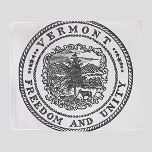 Vintage Vermont seal Throw Blanket