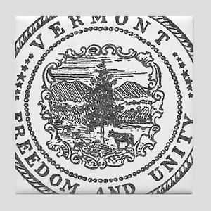 Vintage Vermont seal Tile Coaster