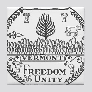Vermont Vintage State Seal Tile Coaster