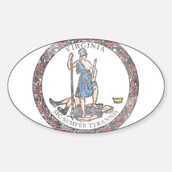 Virginia Vintage State Flag Decal