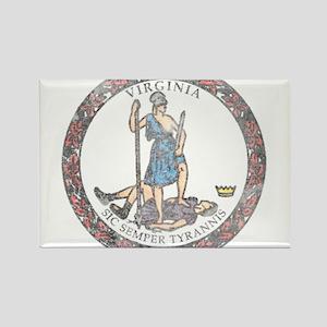 Virginia Vintage State Flag Rectangle Magnet