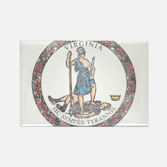 Virginia Vintage State Flag Rectangle Magnet