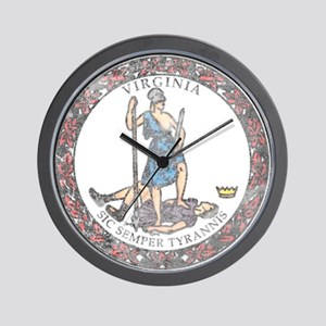 Virginia Vintage State Flag Wall Clock