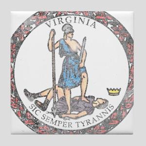 Virginia Vintage State Flag Tile Coaster
