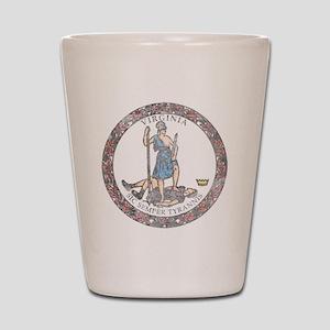 Virginia Vintage State Flag Shot Glass