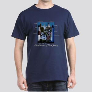 Lighthouses Of New Jersey Dark T-Shirt