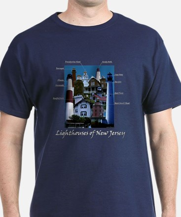 Lighthouses Of New Jersey T-Shirt