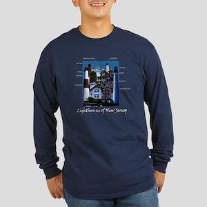 Lighthouses Of New Jersey Dark Long Sleeve T-Shirt