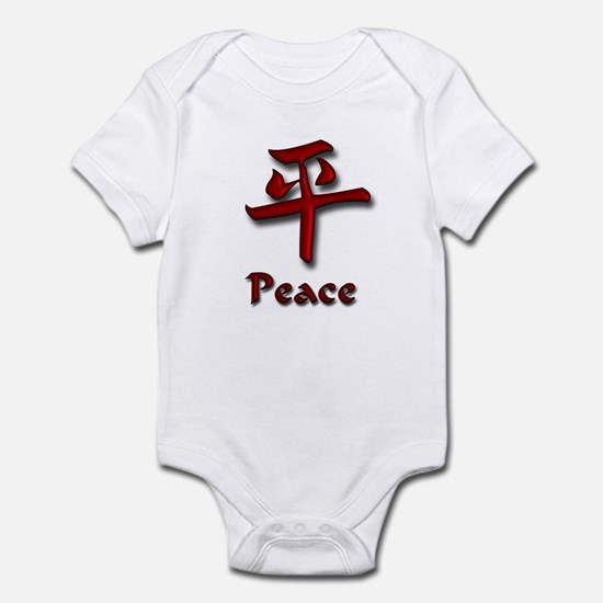 Peace in English/Kanji Red Ed Infant Bodysuit