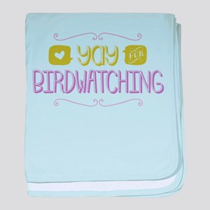 Yay for Birdwatching baby blanket