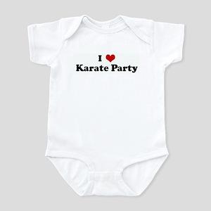 I Love Karate Party Infant Bodysuit