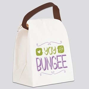 Yay for Bungee Jumping Canvas Lunch Bag