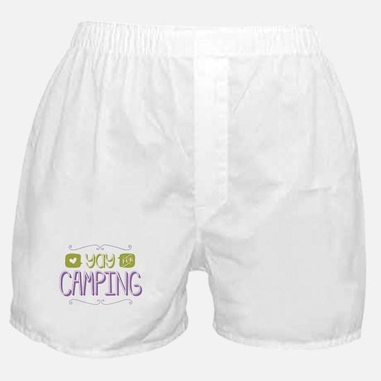 Yay for Camping Boxer Shorts