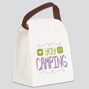 Yay for Camping Canvas Lunch Bag