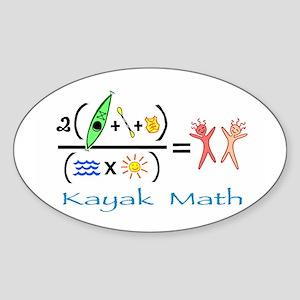 Kayak Math Sticker (Oval)