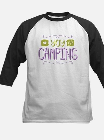 Yay for Camping Baseball Jersey
