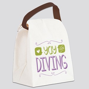 Yay for Diving Canvas Lunch Bag