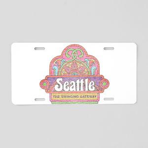 Vintage Seattle Aluminum License Plate
