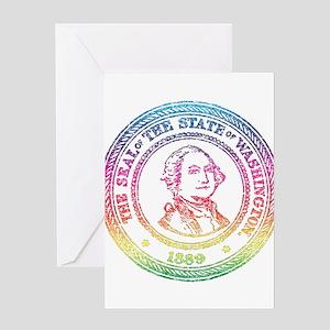 Vintage Washington Rainbow Greeting Card