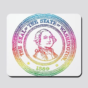 Vintage Washington Rainbow Mousepad