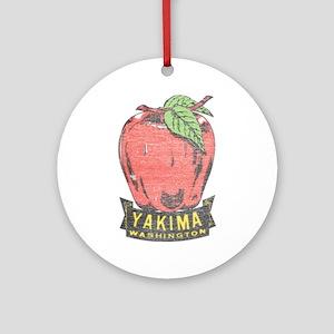 Vintage Yakima Apple Ornament (Round)