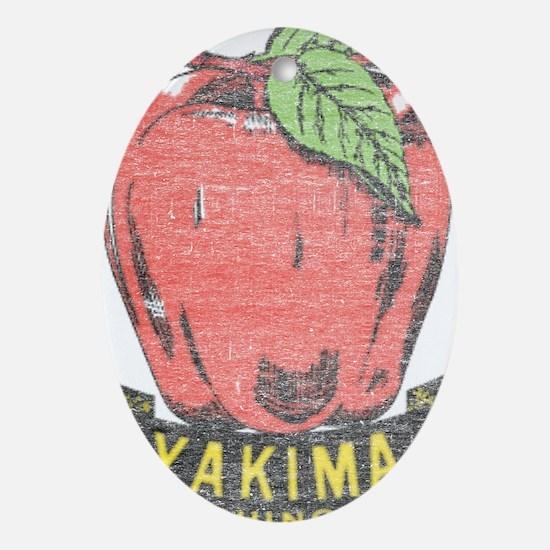 Vintage Yakima Apple Ornament (Oval)
