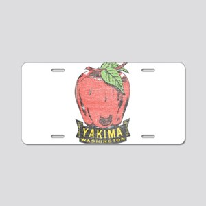 Vintage Yakima Apple Aluminum License Plate