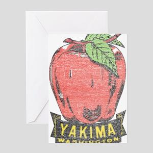 Vintage Yakima Apple Greeting Card